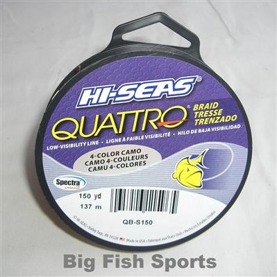 Hi seas quattro braid 4 color camo fishing line 150yds for Hi seas fishing line