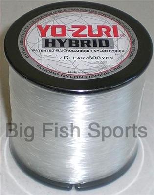 6lb 600yd clear yo zuri hybrid fluorocarbon fishing line for Yo zuri fishing line