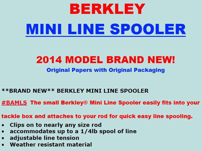 berkley mini line spooler instructions